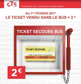 affiche tickets de secours bus cts à 2 €