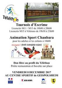 Tournoi d'escrime et animation chanbara