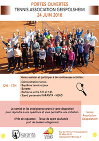 Portes ouvertes Tennis Association Geispolsheim
